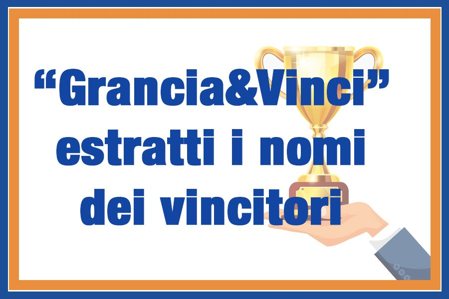 """I vincitori del concorso """"Grancia&Vinci"""""""